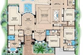 Mediterranean House Floor Plans Mediterranean Style House Plan 4 Beds 4 Baths 5607 Sq Ft