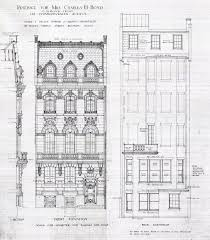 house architecture drawing comm 128 front and rear elevations 1909 jpg 2370 2699 drawing
