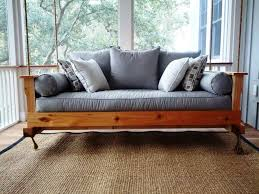 lawn garden great hanging daybed swing natural finished cedar wood