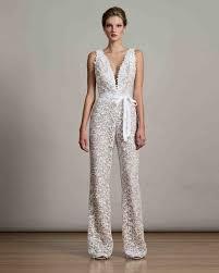 wedding dress jumpsuit 47 chic wedding suits for brides martha stewart weddings