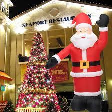Snowman Lawn Decorations Sale Large Inflatable Santa Snowman Outdoor Airblown Xmas