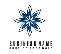 Flower Companies Blue Flower Free Vector Business Logo Trytemplates