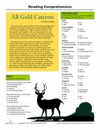 reading comprehension all gold canyon comprehension reading