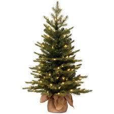 Artificial Trees Home Decor Contemporary Decoration 3 Foot Christmas Tree Pre Lit Artificial