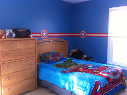 room theme cozy kids bedroom with captain america decorating theme