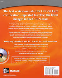 critical care nursing certification preparation review and