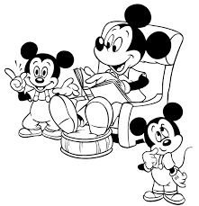 mickey mouse coloring pages coloring pages print