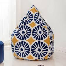 120x120cm pattern style bean bag chair garden beanbag covers