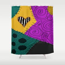 sally nightmare before christmas shower curtain by lea bostwick