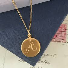 necklace gold initial images Diamond initial necklace in yellow gold bianca jones british jpg