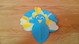 diy crafts how to make a simple peacock with paper crafts for