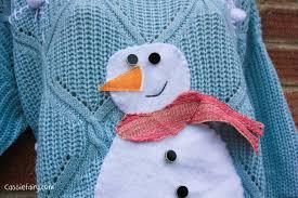 diy sew your own festive snowman christmas jumper