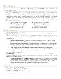 English Teacher Resume No Experience Resume Resume Examples Teacher