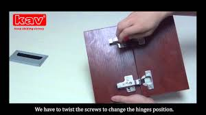 how to adjust screws of 3d soft close cabinet hinges kav furniture