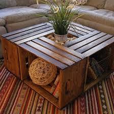 Wooden Crate Shelf Diy by Best 25 Crate Table Ideas On Pinterest Wine Crate Coffee Table