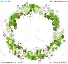 clipart of a round st patricks day wreath of shamrock clovers and