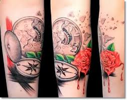 45 outstanding pocket watch tattoos made ever golfian com