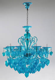 blue crystal chandelier light bella vetro aqua blue glass chandelier by cyan design