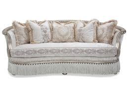 Furniture By Michael Amini Michael Amini Giselle Wood Trimmed Sofa Olinde U0027s Furniture Sofas