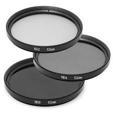 52mm nd2 nd4 nd8 neutral density filter set for nikon d800 d700