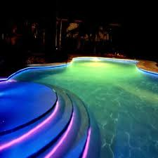 8mm solid core side glow fiber optic led light cable for swimming pool or underwater decoration in optic fiber lights from lights lighting on