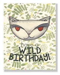 Jungle Birthday Card Jungle Cat Wild Birthday Card Cat People Press