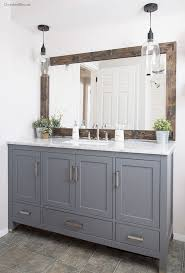 how to build bathroom vanity cabinet with rustic wall art benevola
