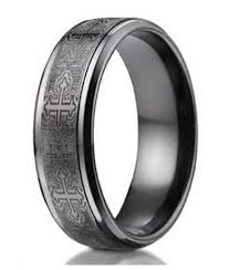 mens black wedding rings mens black titanium ring crosses comfort fit