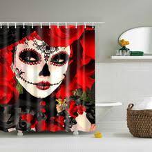 Sugar Skull Bathroom Skull Shower Curtain Promotion Shop For Promotional Skull Shower