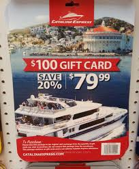catalina express 100 gift card for 80 costco weekender
