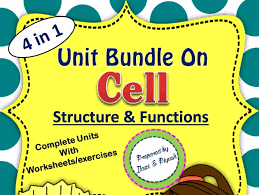 level of cell organization unit plan with worksheets by