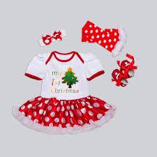 my christmas baby girl christmas baby girl dots set best baby store