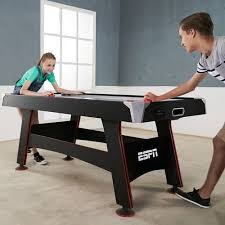 hockey time air hockey table espn 72 inch air powered hockey table with table tennis top in