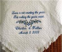 personalized wedding blankets blankets