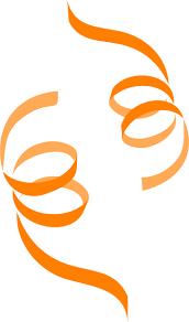 decorative ribbons orange clip at clker vector clip