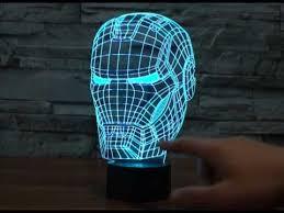 Iron Man Night Light Iron Man 3d Led Bulbing Magical Night Lamp Youtube