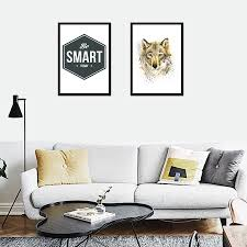 Nordic Home Aliexpress Com Buy Nordic Home Decor Be Smart Today Wolf Mural
