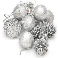 discount silver pine cone ornaments 2017 silver pine cone