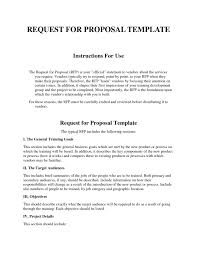 request for proposal template free best u0026 professional templates