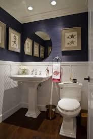 Powder Room Powell Ohio - small half bath powder room navy grasscloth small home