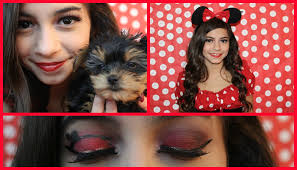 Minnie Mouse Halloween Makeup by Minnie Mouse Halloween Tutorial Youtube
