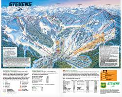 Seattle Washington Map by Stevens Pass Resort Trail Map