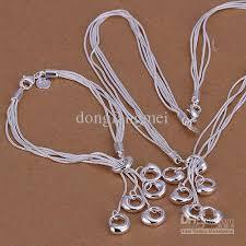 silver necklace bracelet set images A fashion design women 39 s 925 sterling silver necklace bracelet set jpg