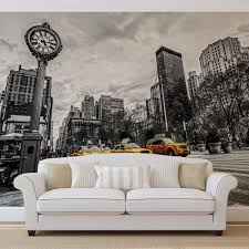new york city cabs wall paper mural buy at europosters price from