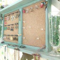 Shabby Chic Jewelry Display by Wall Suitcase Jewelry Holders Design Organization Pinterest