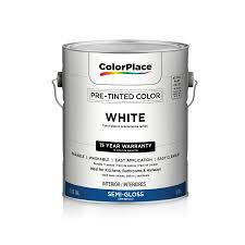 color place interior semi gloss paint white walmart com