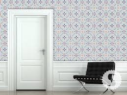 temporary wall paper wallpaper temporary removable wallpaper moroccan tiles red