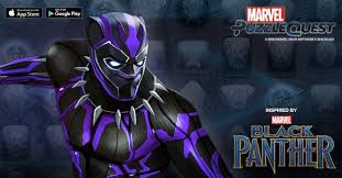 black panther marvel black panther joins marvel puzzle quest in a special event