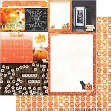 12x12 scrapbook october calendar girl 12x12 scrapbook paper 5 sheets by bo bunny