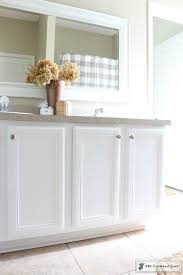 Bathrooms With White Cabinets Painting A Bathroom Cabinet With General Finishes Milk Paint U2013 The